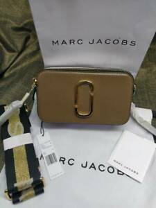 Genuine Marc Jacobs Snapshot Small Camera Bag Crossbody french grey multi sales