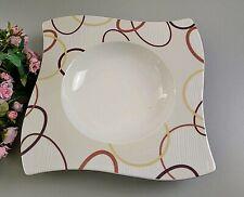 Villeroy & Boch NEW WAVE ethno Suppenteller Pastateller ca. 24x24cm V&B NEU mehr