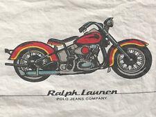 *RARE PAIR ~RALPH LAUREN Standard ~MOTORCYCLE Pillowcases POLO BRAND Company