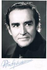 "Vittorio Gassman 1922-2000 genuine autograph signed photo 4""x6"" Italian actor"