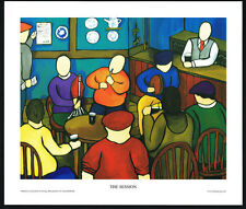 The Session/Pub/Bar/Music/N/Irish Art Group/Fine Print/Martin Laverty/Ireland