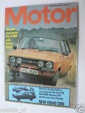 MOTOR 1975 AUG,VOLVO DAF 66GL,FORD ESCORT 1600 SPORT,DONOHUE,MINI 1000,FIAT 128,