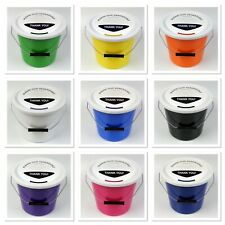 More details for 10  strong  charity money collection buckets with security ties, lids & labels
