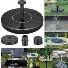 Outdoor Solar Powered Bird Bath Water Fountain Pumps Free Standing Garden Pool