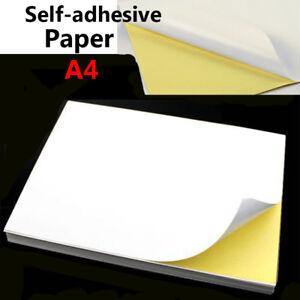 A4 Glossy/Matte/Kraft Self-adhesive Paper Inkjet Laser Sticker Label Print Lot