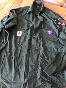 collectable boy scouts shirt and Badges