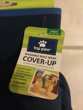 TOP PAW WASHABLE MALE COVERUP - SIZE LARGE - SOLID BLUE
