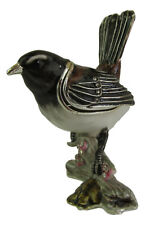 Willy Wagtail Jewelled Bird Trinket Box or Figurine