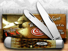 CASE XX Amber Bone CV Trapper Pocket Knives Knife