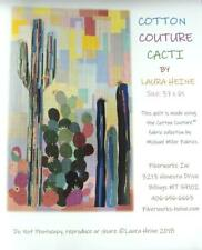 COTTON COUTURE CACTI  APPLIQUE BY LAURA HEINE  QUILT WALL HANGING