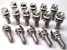 16 x alloy wheel bolts nuts lugs M14 x 1.5 19mm Hex 30mm thread Radius. Porsche