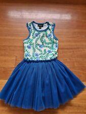Rock Your Kid Blue Flower Circus Tutu Dress Size 6 excellent condition