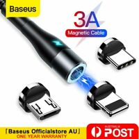 Baseus 360° Fast Charging Cable Magnetic Charger USB IOS Lighting Type-C Micro