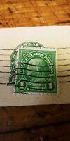 1 Cent Green Benjamin Franklin STAMP Used