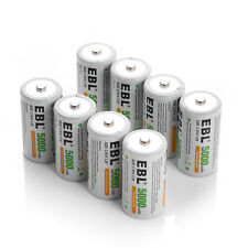 8x EBL 5000mAh 1.2V Size C Cell R14 Rechargeable Battery for Toys Digital Camera