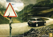 PUBLICITE ADVERTISING 045  2005   RENAULT  MEGANE EXTREME  ( 2 pages)