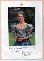 Fotografia  Infanta Elena dedicada a la Sociedad Filatelica Sevillana (CM-864)