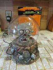 Vintage Lite Up Skull Mystic Spirit Ball,Move Rotate Led,Box,Skeleton,Cord