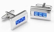 Mens Sapphire Crystal Fashion Cufflinks & Gift Box By Onyx Art Smart Fashion