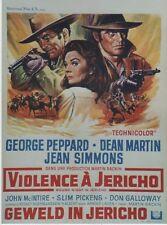 """VIOLENCE A JERICHO (ROUGH NIGHT IN JERICHO)"" Affiche Dean MARTIN,George PEPPARD"