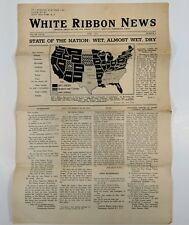White Ribbon News Womans Christian Temperance Union 1935 New Jersey