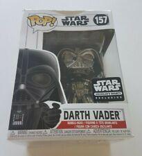 Funko Pop Star Wars 157 Darth Vader Black Chrome Smugglers Bounty Exclusive