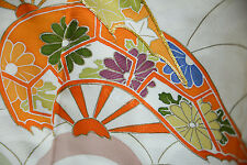 Vintage Japanese silk  Kimono  TUKESAGE  from Japan 11-22