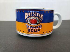 Vintage Westwood Cambells Blue Orange Beefsteak Tomato Soup Mug Bowl 1994