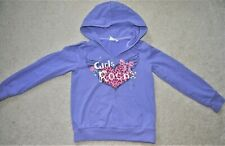 The Children's Place Girls' Purple Girls Rock Long Sleeves Sweatshirt - Size 7/8