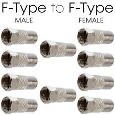 10 Pcs F-Type Adapter Coaxial Cable Right Angle Adapter 90 Degree Male to Female