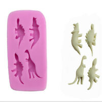4 Cavity 3D Dinosaur Silicone Cake Chocolate Mold Soap Jelly Mould Fondant Decor