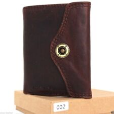 Men's Genuine Leather Wallet Credit Card Slots 2 id Windows 2 Bill Compartments