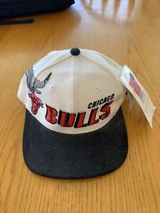 Vintage Chicago Bulls Sports Specialties Shadow Snapback Hat Cap NOS 90s w/Tags