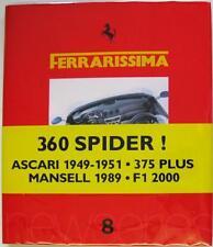 FERRARISSIMA 8 NEW SERIES BRUNO ALFIERI LIMITED EDITION CAR BOOK