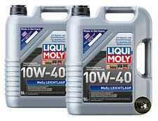 10 Liters 2184 Liqui Moly MoS2 Leichtlauf 10W-40 Engine Oil Made in Germany