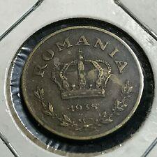 1938 ROMANIA 1 LEU  BETTER COIN