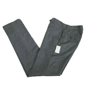 Brunello Cucinelli Mens 30 (46) Regular Fit Flat Front Wool Dress Pants Grey