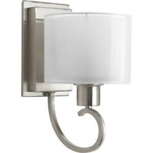Progress Lighting Invite Collection 1-Light Brushed Nickel Wall Sconce