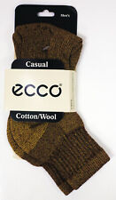 Comfortable Men's Socks Casual ecco Cotton/Wool Style: EC2216BR Ankle High Brown