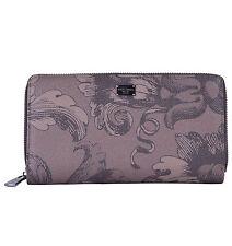 Dolce & Gabbana unisex portafoglio in pelle Dauphine con la scritta Marrone 04763