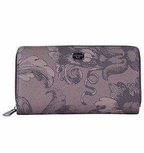 Dolce & Gabbana Unisex Purse From Dauphine Leather with Print Braun 04763