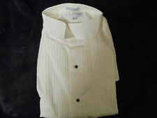 "Vintage NEW WHITE w/black buttons DEVIN MICHAELS 15-1/2 32/33 ""OLD STOCK"""