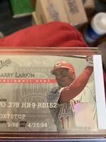 1995 Studio Baseball Card #37 Barry Larkin And A Barry Larkin Upper Deck
