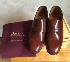 BARKER UK 6 G Campbell Wood Brown Fine Leather Slip On Shoe Loafers BNIB £195