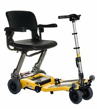 Freerider Luggie SUPER Folding Portable Mobility Scooter - Cap 360 lb, Yellow