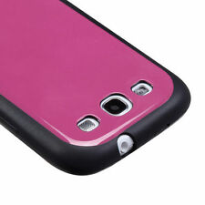 For Samsung Galaxy S III 3 TPU Gel GUMMY Hard Skin Case Phone Cover Black Pink
