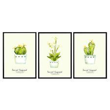 Green Plants Art Prints Cute Cactus Poster Picture Bedroom Wall Art Decor