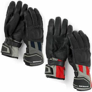 Genuine BMW Motorrad GS Dry unisex motorcycle Gloves Red or Blue