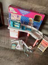 Barbie Vet Centre Playset Vet Nurse Doll Accessories Rare Mattel 1998
