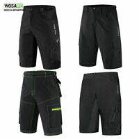 Mens Cycling Baggy Shorts MTB Mountain Bike Casual Sports Short Pants Black